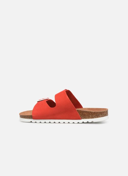 Mules et sabots Vero Moda Julia Leather Sandal Rouge vue face