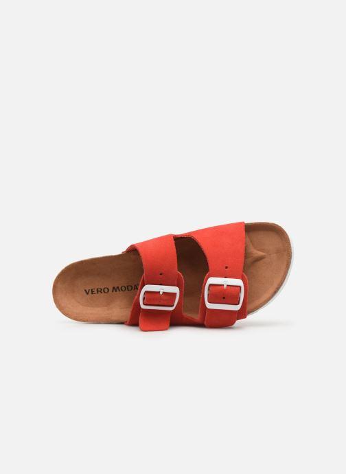 Mules et sabots Vero Moda Julia Leather Sandal Rouge vue gauche