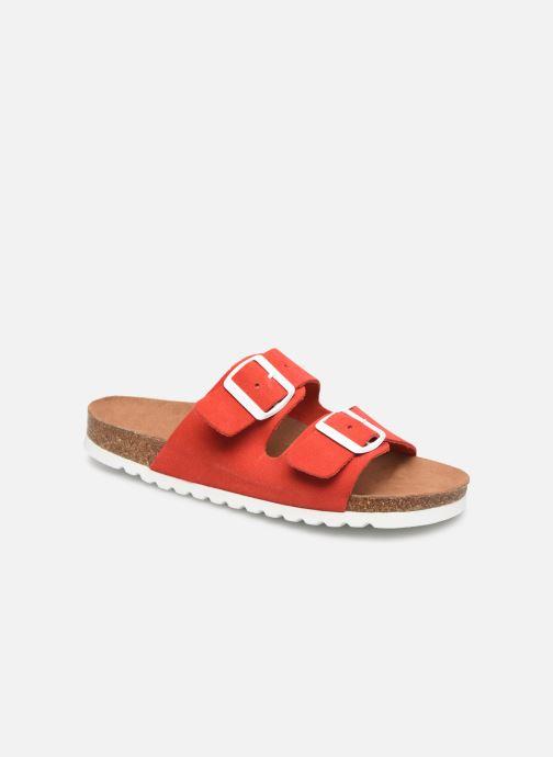 Mules et sabots Vero Moda Julia Leather Sandal Rouge vue détail/paire