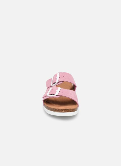 Mules et sabots Vero Moda Julia Leather Sandal Violet vue portées chaussures