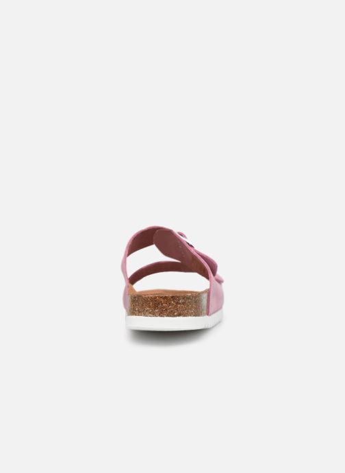 Zuecos Vero Moda Julia Leather Sandal Violeta      vista lateral derecha