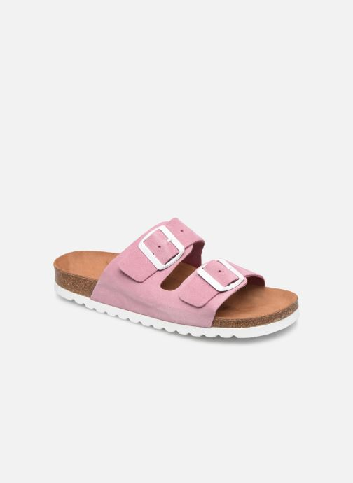 Zuecos Vero Moda Julia Leather Sandal Violeta      vista de detalle / par