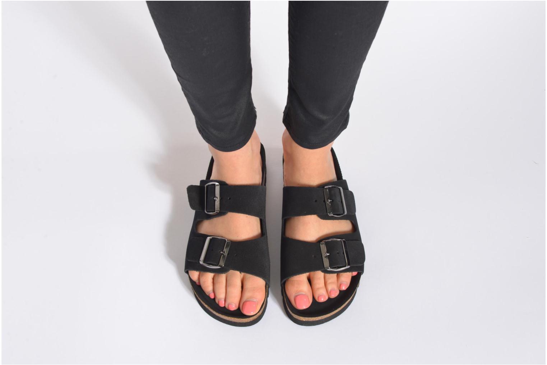 Zuecos Vero Moda Julia Leather Sandal Marrón vista de abajo