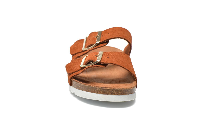 Wedges Vero Moda Julia Leather Sandal Bruin model