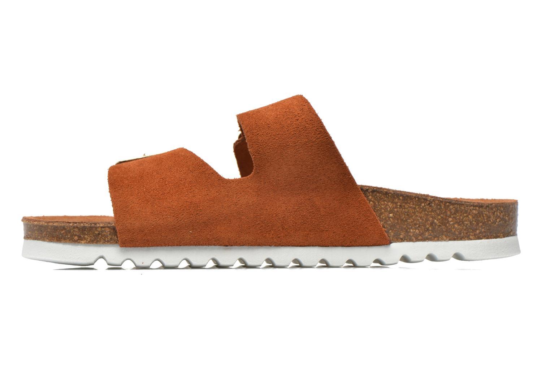Zuecos Vero Moda Julia Leather Sandal Marrón vista de frente