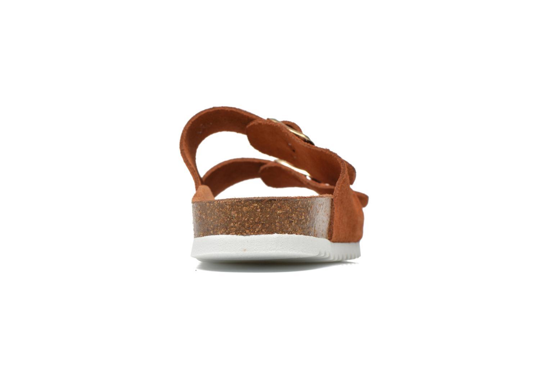 Wedges Vero Moda Julia Leather Sandal Bruin rechts