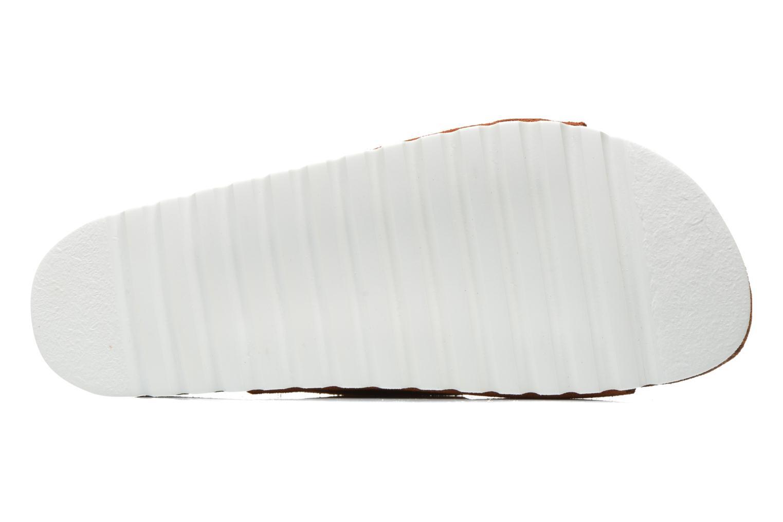 Zuecos Vero Moda Julia Leather Sandal Marrón vista de arriba