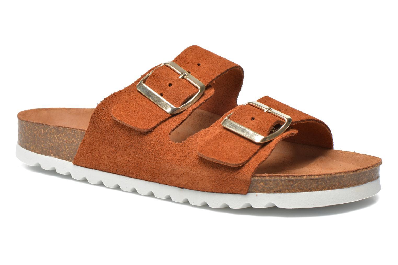 Zuecos Vero Moda Julia Leather Sandal Marrón vista de detalle / par