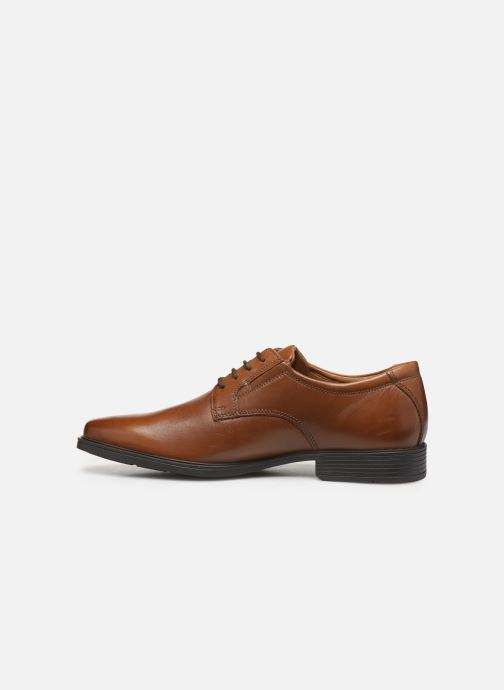 Zapatos con cordones Clarks Tilden Plain Marrón vista de frente