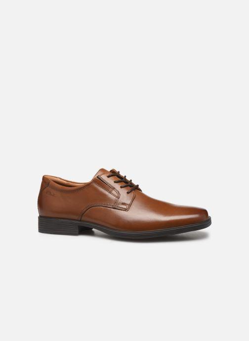 Chaussures à lacets Clarks Tilden Plain Marron vue derrière