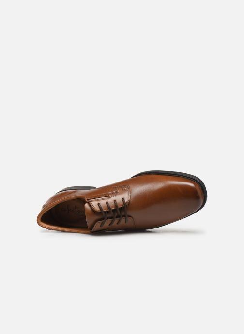 Zapatos con cordones Clarks Tilden Plain Marrón vista lateral izquierda