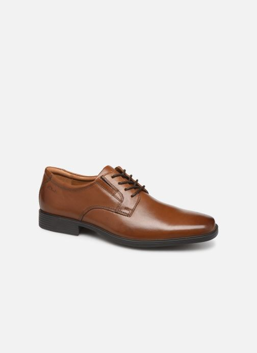 Zapatos con cordones Clarks Tilden Plain Marrón vista de detalle / par