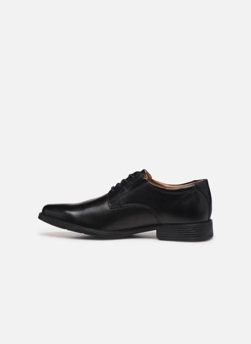 Chaussures à lacets Clarks Tilden Plain Noir vue face