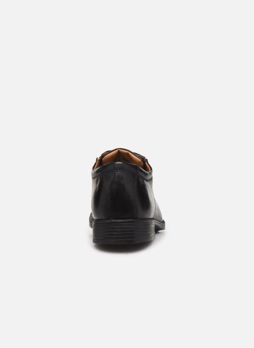 Chaussures à lacets Clarks Tilden Plain Noir vue droite