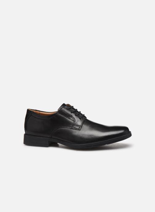 Chaussures à lacets Clarks Tilden Plain Noir vue derrière