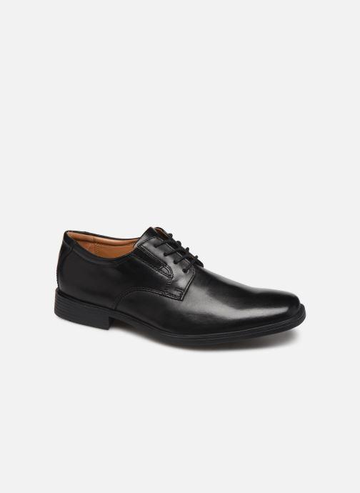 Chaussures à lacets Clarks Tilden Plain Noir vue détail/paire
