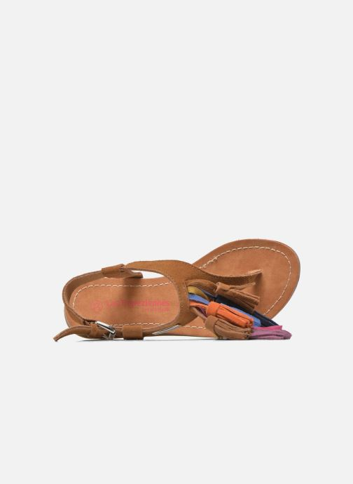 Sandales et nu-pieds Les Tropéziennes par M Belarbi Gorby E Marron vue gauche