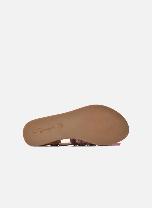 Sandales et nu-pieds Les Tropéziennes par M Belarbi Gorby E Marron vue haut