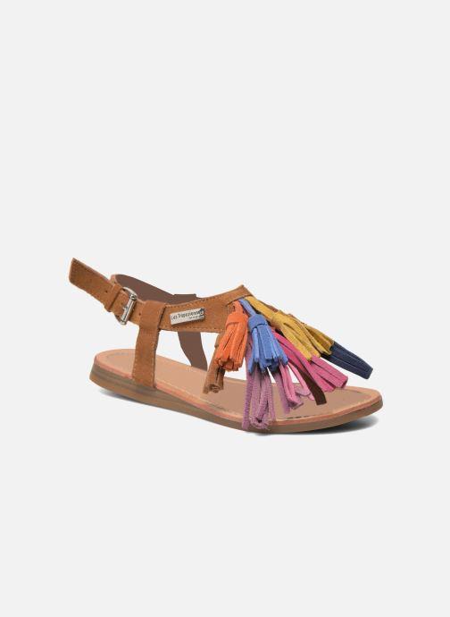 Sandales et nu-pieds Les Tropéziennes par M Belarbi Gorby E Marron vue détail/paire