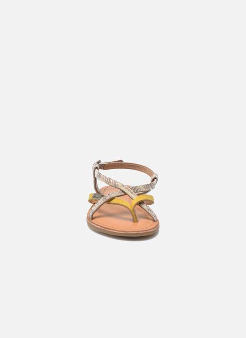 Sandali e scarpe aperte Les Tropéziennes par M Belarbi Bonbon Giallo modello indossato