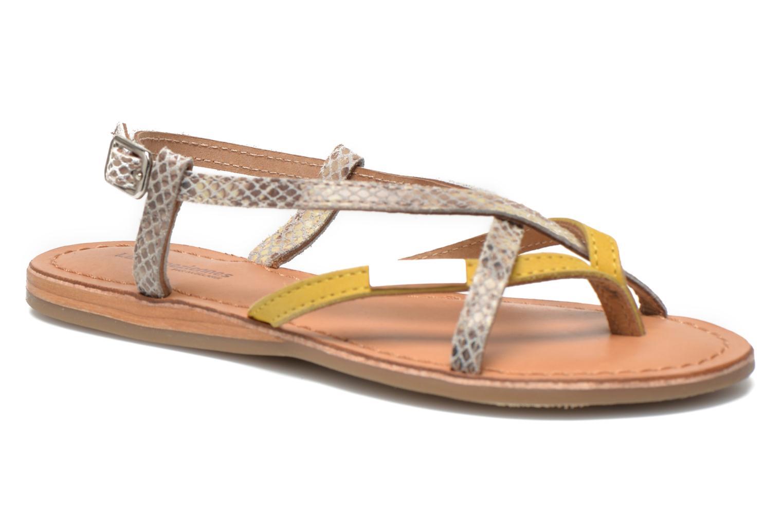 Sandales et nu-pieds Les Tropéziennes par M Belarbi Bonbon Jaune vue détail/paire