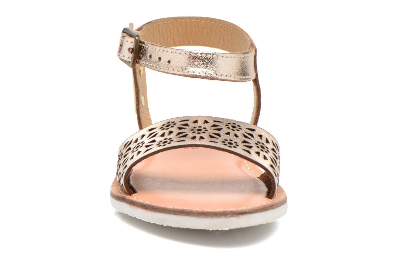 Sandals Les Tropéziennes par M Belarbi Mandy Bronze and Gold model view