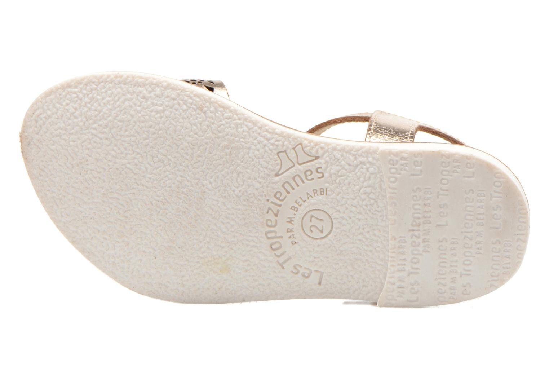 Sandals Les Tropéziennes par M Belarbi Mandy Bronze and Gold view from above
