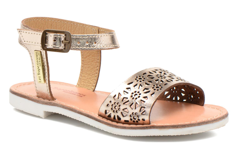 Sandals Les Tropéziennes par M Belarbi Mandy Bronze and Gold detailed view/ Pair view