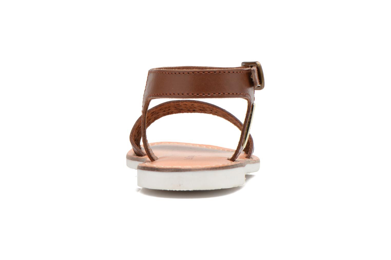 Sandales et nu-pieds Les Tropéziennes par M Belarbi Mandy Marron vue droite