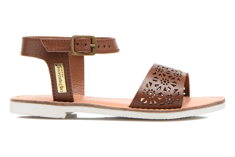 Sandales et nu-pieds Les Tropéziennes par M Belarbi Mandy Marron vue derrière