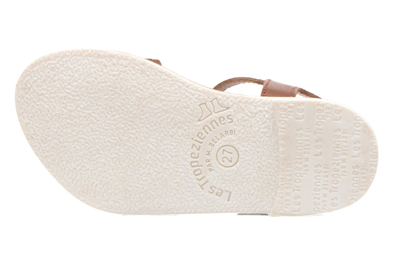 Sandales et nu-pieds Les Tropéziennes par M Belarbi Mandy Marron vue haut