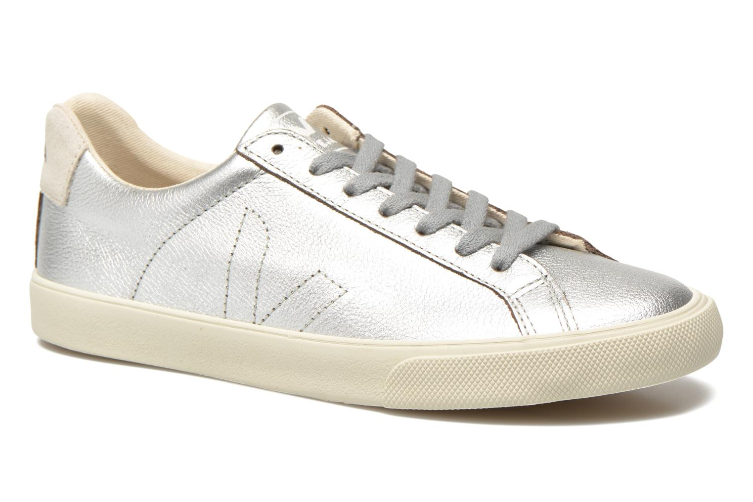 Trainers Veja Esplar Leather Silver detailed view/ Pair view