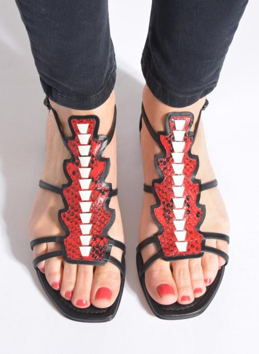 Sandales et nu-pieds Lola Cruz Edmond Multicolore vue bas / vue portée sac