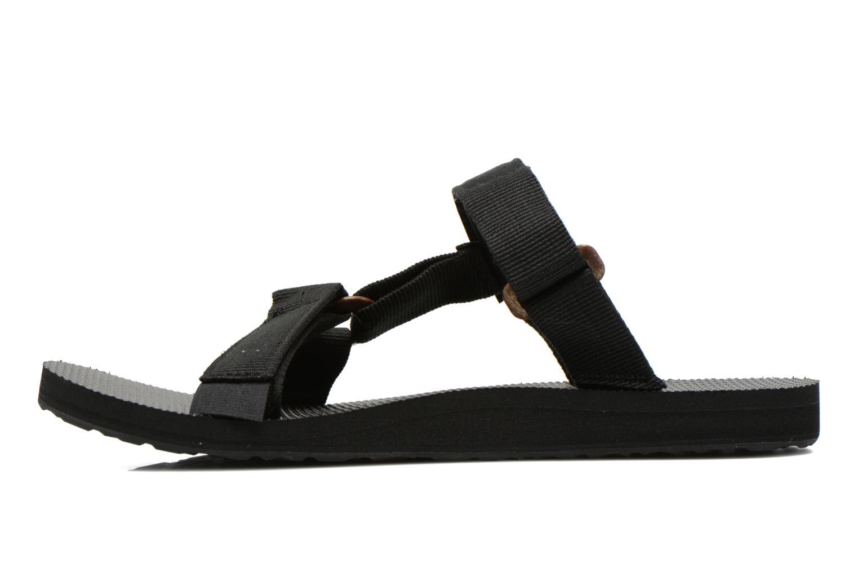 Sandales et nu-pieds Teva Universal Slide Noir vue face