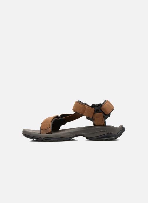 Chaussures de sport Teva Terra Fi Lite Leather Marron vue face
