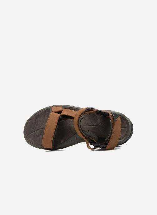 Chaussures de sport Teva Terra Fi Lite Leather Marron vue gauche