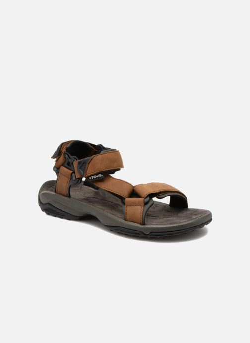 Chaussures de sport Teva Terra Fi Lite Leather Marron vue détail/paire