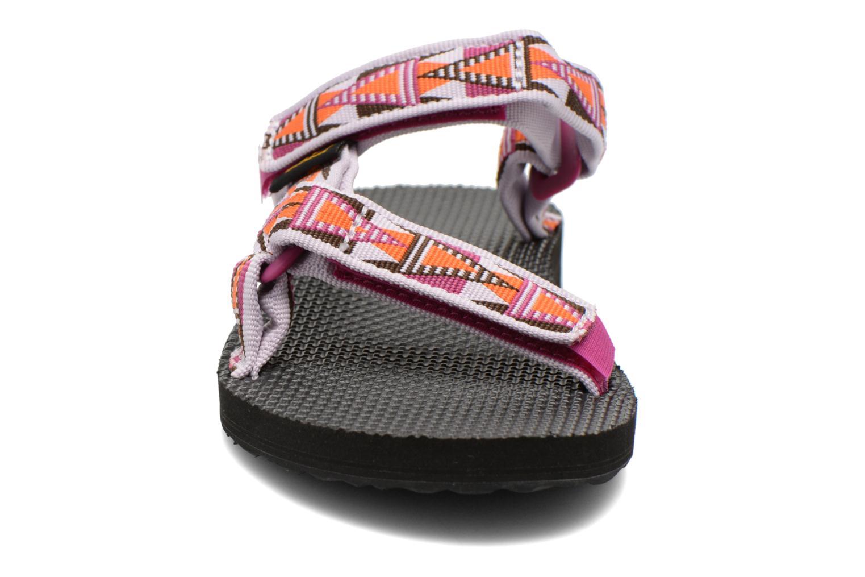 Clogs & Pantoletten Teva Universal Slide W mehrfarbig schuhe getragen