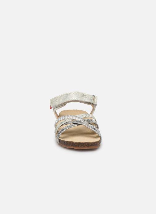 Sandalen NA! Abeille silber schuhe getragen