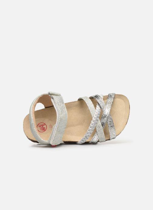 Sandalen NA! Abeille silber ansicht von links