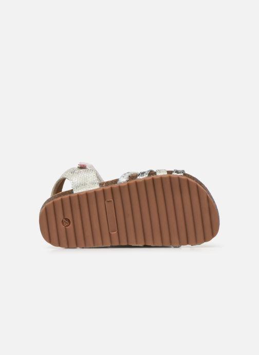 Sandales et nu-pieds NA! Abeille Argent vue haut