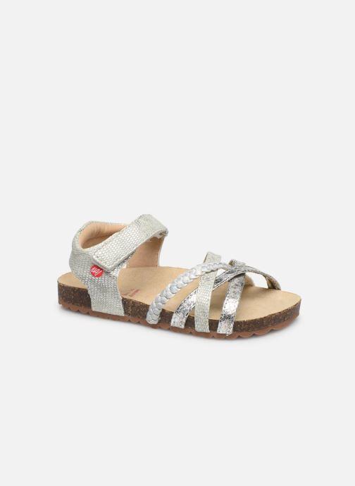 Sandales et nu-pieds NA! Abeille Argent vue détail/paire