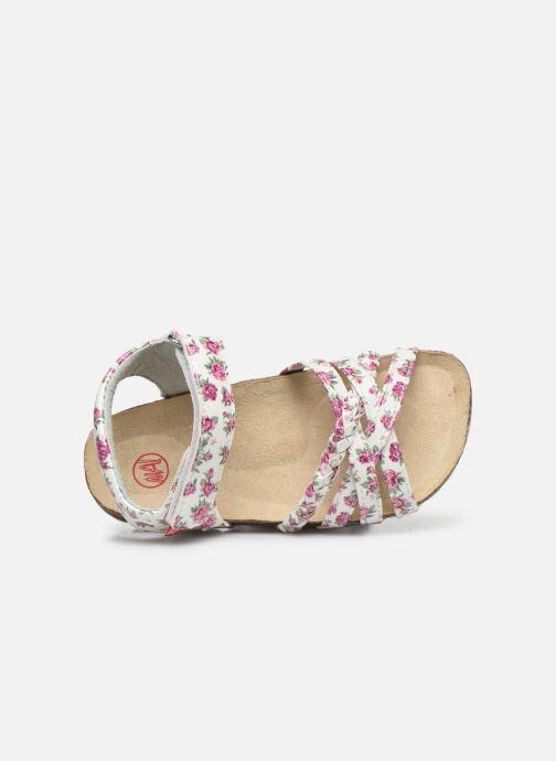 Sandales et nu-pieds NA! Abeille Blanc vue gauche