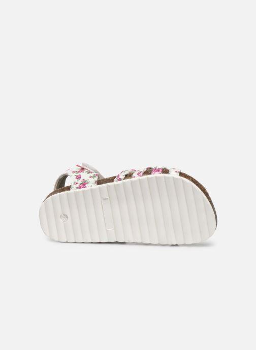 Sandales et nu-pieds NA! Abeille Blanc vue haut