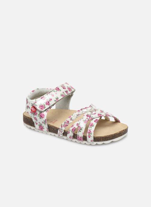 Sandales et nu-pieds NA! Abeille Blanc vue détail/paire