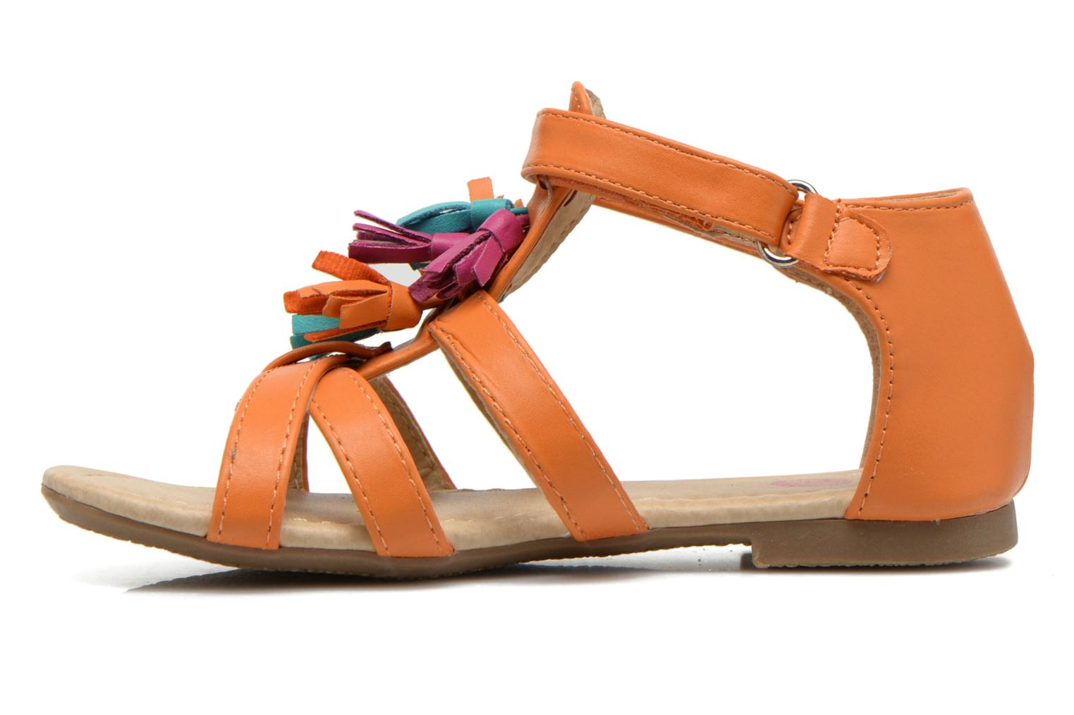 Sandals NA! Flo Orange front view