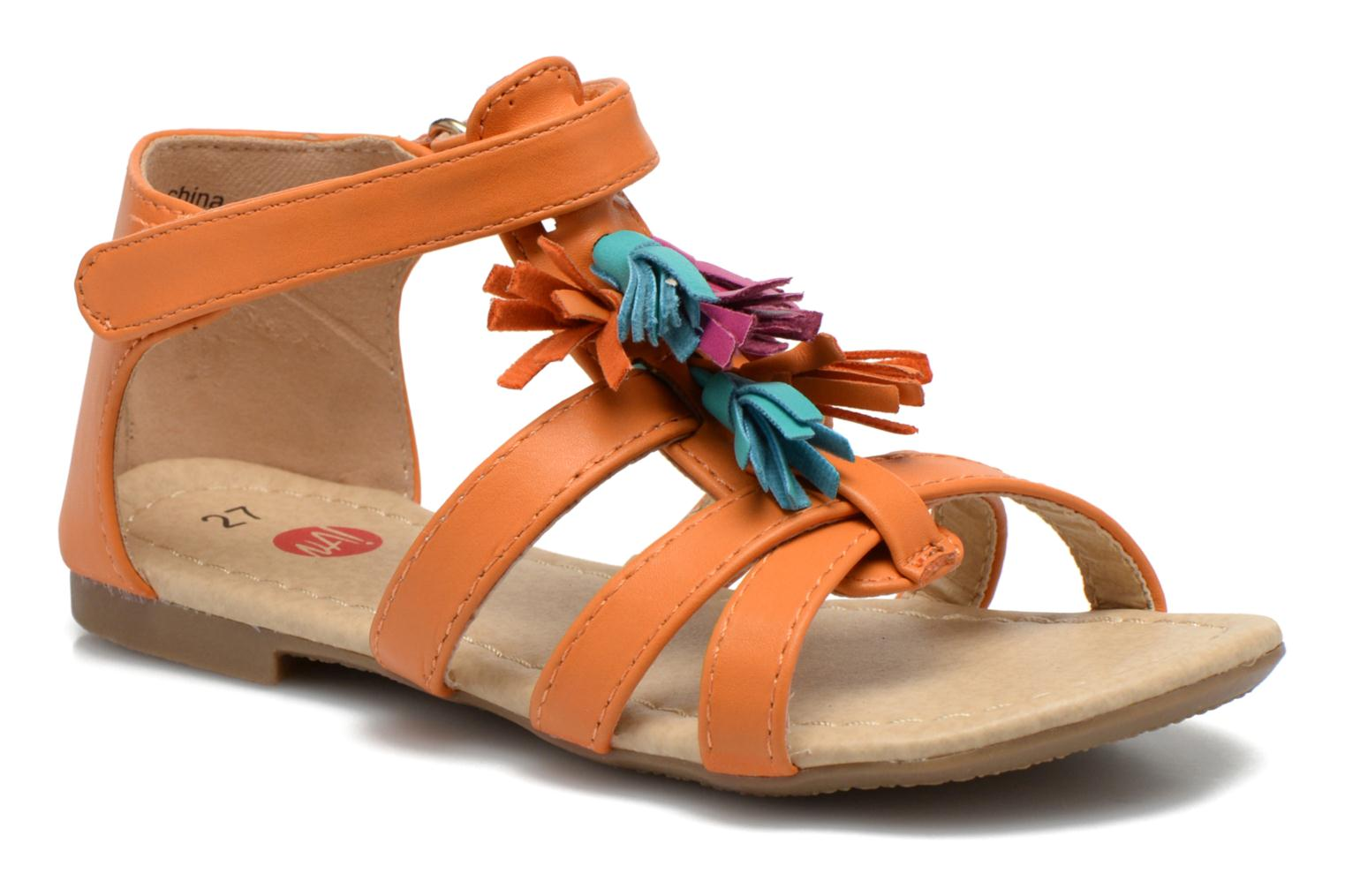 Sandals NA! Flo Orange detailed view/ Pair view