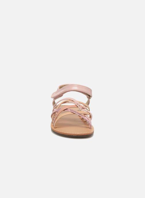 Sandales et nu-pieds NA! Farandol Rose vue portées chaussures