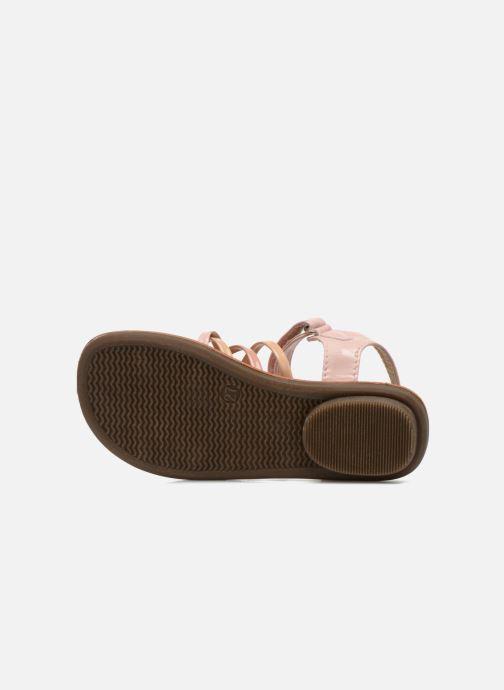 Sandales et nu-pieds NA! Farandol Rose vue haut