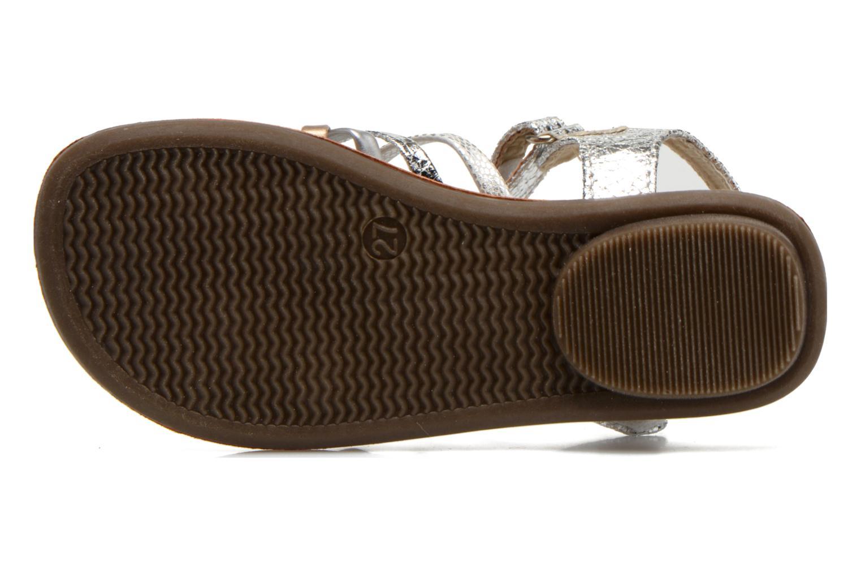 Sandalen NA! Farandol silber ansicht von oben